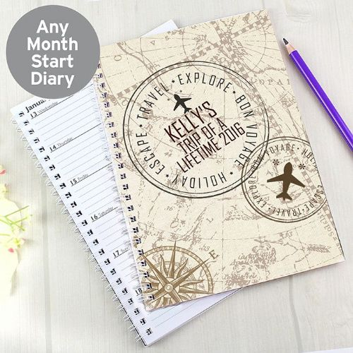 Personalised Travel A5 Diary